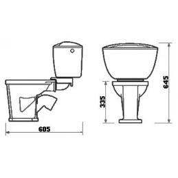 Унитаз детский ВЕРШОК(тарельчатый) с низким бачком, отдельной полочкой, манжетой и болтами для крепления полочки без комплекта