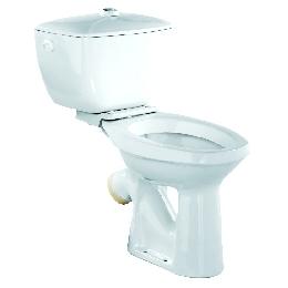 Унитаз КОМФОРТ(тарельчатый) с низким бачком, отдельной полочкой, манжетой и болтами для крепления полочки без комплекта