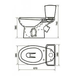 Унитаз-компакт ЭЛИССА в комплекте с арматурой, креплением, сиденьем