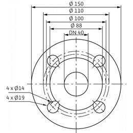 Циркуляционный насос Standard WILO TOP-SD 32/7 DM PN6/10