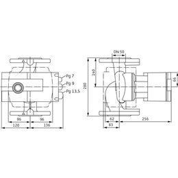 Циркуляционный насос WILO Stratos 50/1-16 PN16