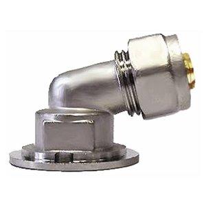"""Угольник с креплением компресс-муфта 105⁰ Дн 16х1/2"""" ВР обжим Aquasfera 7009-01"""