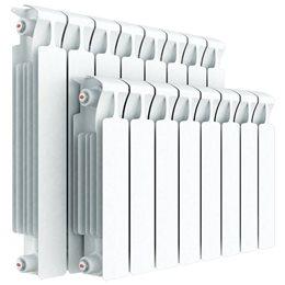 Биметаллический радиатор Rifar Monolit Ventil 500, 4 секции, с нижним левым подключением