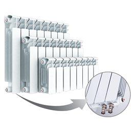 Биметаллический радиатор Rifar Base Ventil 500, 4 секции, с нижним левым подключением