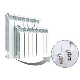 Алюминиевый радиатор Rifar Alum Ventil 500 (7 секций) с нижним левым подключением