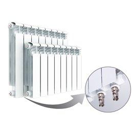 Алюминиевый радиатор Rifar Alum Ventil 500 (9 секций) с нижним левым подключением