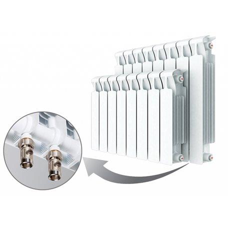 Алюминиевый радиатор Rifar Alum Ventil 500 (6 секций) с нижним правым подключением