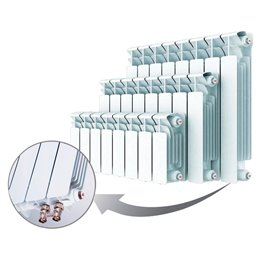 Биметаллический радиатор Rifar Base Ventil 200, 14 секций, с нижним правым подключением