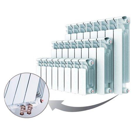 Биметаллический радиатор Rifar Base Ventil 500, 8 секций, с нижним правым подключением