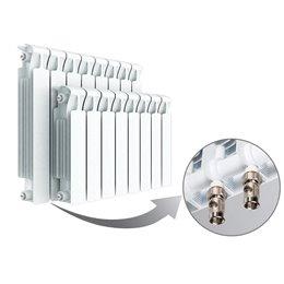 Биметаллический радиатор Rifar Monolit Ventil 350, 8 секций, с нижним левым подключением