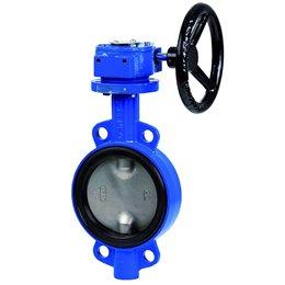 Затвор дисковый поворотный GENEBRE 2109 24 DN400 PN10 Тmax120°C с редуктором