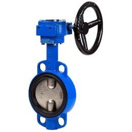 Затвор дисковый поворотный GENEBRE 2103 22 DN350 PN10 Тmax120°C с редуктором