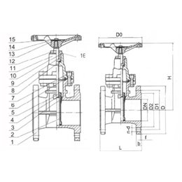Задвижка с обрезиненным клином GENEBRE 2102 20 DN300 PN16  корпус-чугун, клин-EPDM, Tmax120°C Ф/Ф