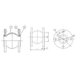 Компенсатор фланцевый GENEBRE 2831 28 DN500 PN10 корпус-EPDM, Tmax105°C, Ф/Ф