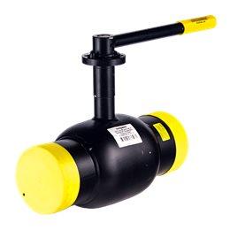 Кран шаровой стальной Ballomax КШТ 61.102 Ду 125 Ру25 под приварку с рукояткой и ISO фланцем под редуктор, электропривод BROEN К