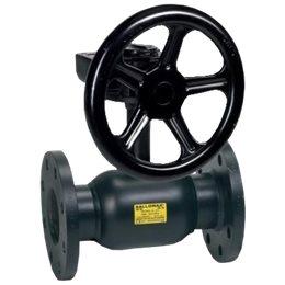 Кран шаровой стальной Ballomax КШТ 61.103 Ду 150 Ру16 фл с редуктором BROEN КШТ 61.103.150
