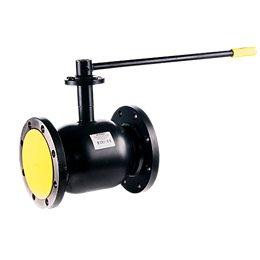 Кран шаровой стальной Ballomax КШТ 61.103 Ду 150 Ру16 фл с рукояткой и ISO фланцем под редуктор, электропривод BROEN КШТ 60.103.