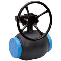 Кран шаровой стальной DZT Ду 400 Ру25 под приварку с редуктором BROEN 4010225400900