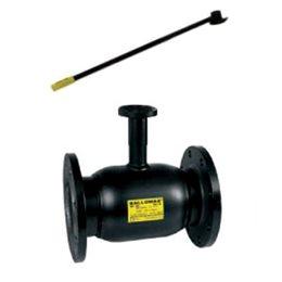 Кран шаровой стальной Ballomax КШТ 61.113 Ду 100 Ру16 фл полнопроходной с рукояткой и ISO фланцем под редуктор, электропривод BR