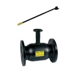 Кран шаровой стальной Ballomax КШТ 61.113 Ду 150 Ру25 фл полнопроходной с рукояткой под редуктор, электропривод BROEN КШТ 61.113