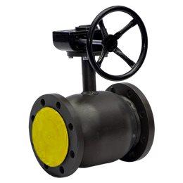 Кран шаровой стальной Ballomax КШТ 61.113 Ду 150 Ру16 фл полнопроходной с редуктором BROEN КШТ 61.113.150
