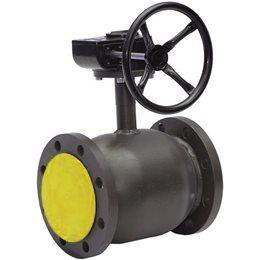 Кран шаровой стальной Ballomax КШТ 61.113 Ду 150 Ру25 фл полнопроходной с редуктором BROEN КШТ 61.113.150