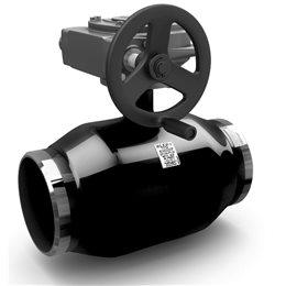 Кран шаровой стальной КШ.Ц.П.Р Ду 350 Ру25 под приварку с редуктором LD КШ.Ц.П.Р.350/300.025.Н/П.02