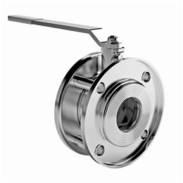 Кран шаровой стальной Стриж Ду 65 Ру16 межфл полнопроходной L92мм LD 065.016.02.Zn