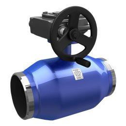 Кран шаровой стальной Energy Ду 400 Ру16 под приварку с редуктором LD КШ.Ц.П.Р.Energy.400/350.016.Н/П.03
