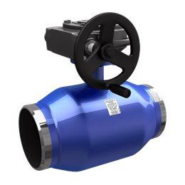 Кран шаровой стальной Energy Ду 500 Ру25 под приварку полнопроходной с редуктором LD КШ.Ц.П.Р.Energy.500.025.П/П.03