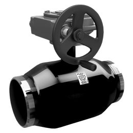 Кран шаровой стальной КШ.Ц.П.Р Ду 250 Ру16 под приварку полнопроходной с редуктором LD КШ.Ц.П.Р.250.016.П/П.02