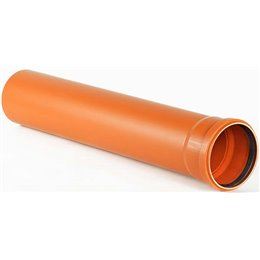 Труба НПВХ с раструбом коричневая Дн 110х3,2 L0,5м SN4 Хемкор