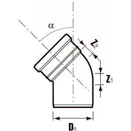 Отвод ПВХ с раструбом коричневая Дн 110х15гр Хемкор