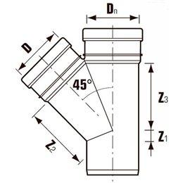 Отвод ПВХ с раструбом коричневый Дн 500х87гр Хемкор