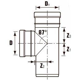 Тройник ПВХ с раструбом коричневый Дн 200х200х45гр Хемкор