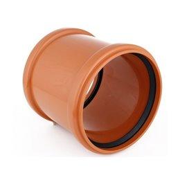 Тройник ПВХ с раструбом коричневый Дн 500х500х87гр Хемкор