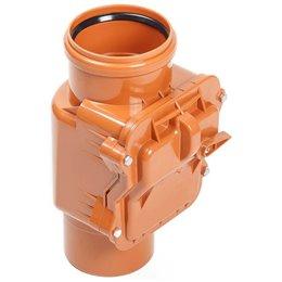 Клапан обратный ПВХ коричневый Дн 500 Хемкор