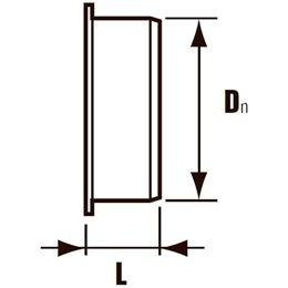 Заглушка канализационная ПВХ для раструба серая Дн 50 Хемкор