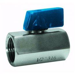 Кран шаровой монокорпусный GENEBRE 2006 02 DN008 PN63  корпус-нерж. сталь AISI 316, T -25°C ..+180°C  ВР/ВР