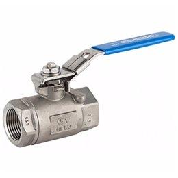 Кран шаровой стандартнопроходной GENEBRE 2008 02 DN008 PN140 корпус-нерж. сталь AISI 316L, Tmax180°C ВР/ВР ручка-рычаг