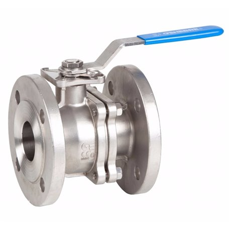 Кран шаровый полнопроходной фланцевый GENEBRE 2528 05 DN020 PN40  корпус-нерж. сталь CF8M, PTFE, Tmax180°C Ф/Ф ручка-рычаг
