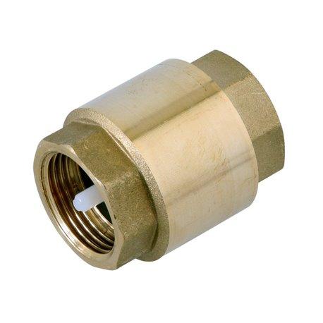 Клапан обратный пружинный Genebre 3120 10 DN65 PN8, Латунь / Полиамид / NBR, вн. резьба