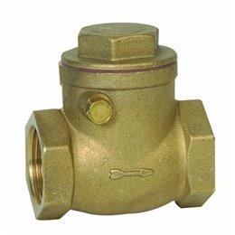 Клапан обратный поворотный Genebre 3180 07 DN32 PN10  Латунь / Латунь / NBR, вн. резьба
