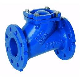 Клапан обратный шаровый фланцевый GENEBRE 2453 12 DN100 PN16  корпус-чугун  GGG-40, Tmax80°C Ф/Ф