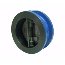 Клапан обратный межфланцевый двустворчатый GENEBRE 2401 09 DN050 PN16 корпус-чугун, седло-NBR, Tmax100°C