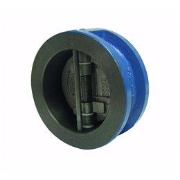 Клапан обратный межфланцевый двустворчатый GENEBRE 2401 14 DN150 PN16 корпус-чугун, седло-NBR, Tmax100°C