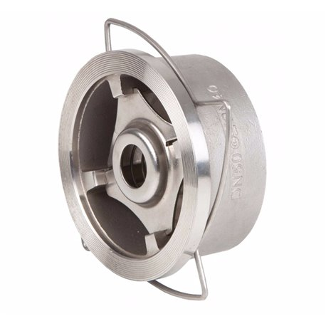 Клапан обратный дисковый пружинный межфланцевый GENEBRE 2415 10 DN065 PN40 корпус-нерж. сталь AISI 316, Tmax240°C