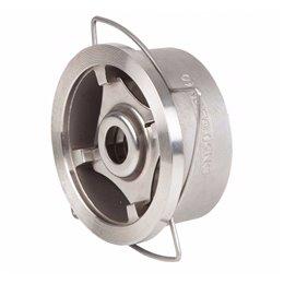 Клапан обратный дисковый пружинный межфланцевый GENEBRE 2415 05 DN020 PN40 корпус-нерж. сталь AISI 316, Tmax240°C