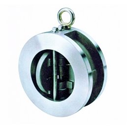 Обратный клапан двустворчатый межфланцевый GENEBRE 2402 18 DN250 PN25 корпус-нерж. сталь AISI 316, Tmax180°C
