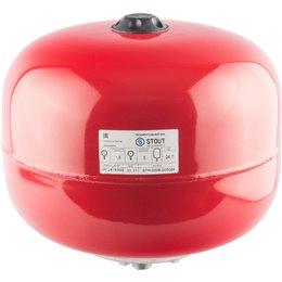 Расширительный бак на отопление 24 л. (цвет красный) Stout